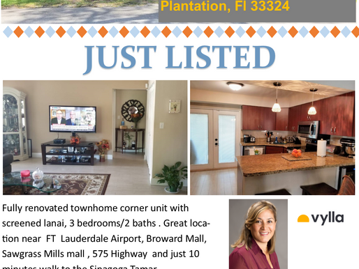 Townhome for Sale in Plantation, FL