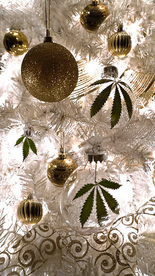 Cannabis Leaf Ornament