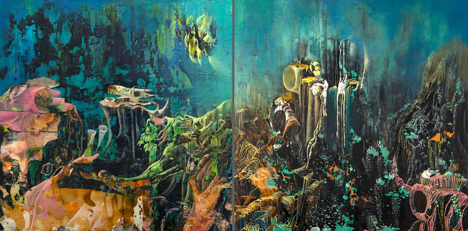Nightscapes 1 (Diptych)