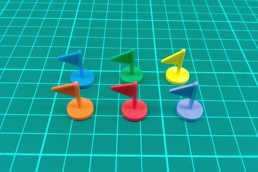 Plastic flags - PACK: 12