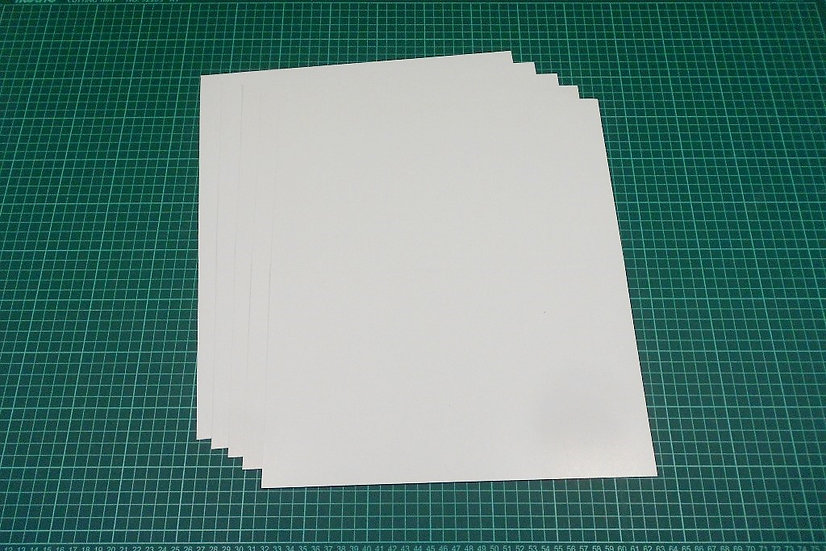 Thin boards (bi-fold) 38x32cm - PACK: 5