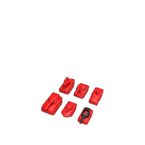 Tank Chess - Pocket: Fun Set colour pieces