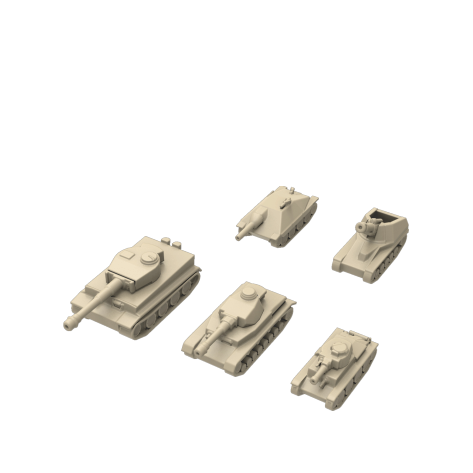 Realistic tanks for Tank Chess (standard)