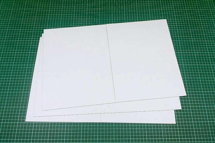 Boards (quad-fold) 47x31cm - PACK: 3