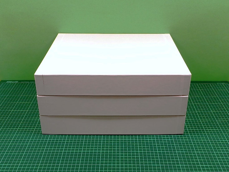 Boxes 40x34x6cm - hard cardboard - PACK: 3