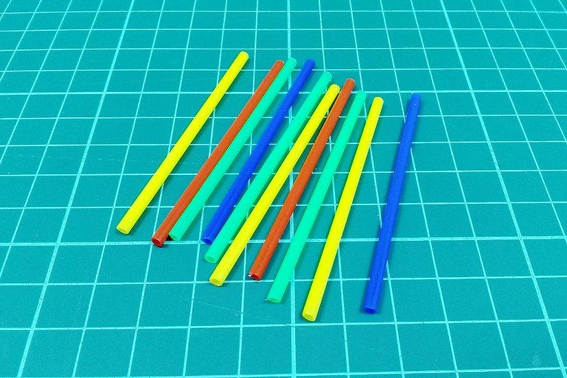 Plastic sticks - mix - PACK: 10
