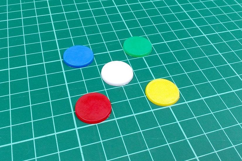 Plastic discs 19mm - PACK: 5