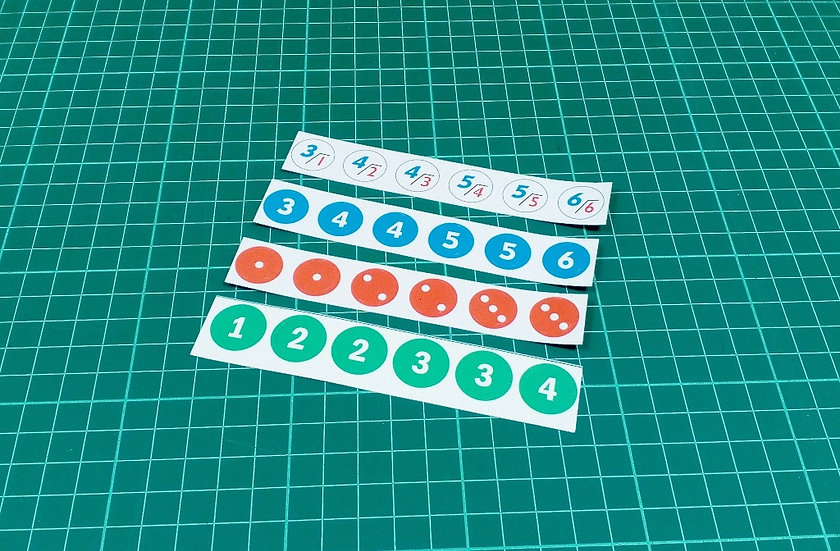 Stickers for dice - mix
