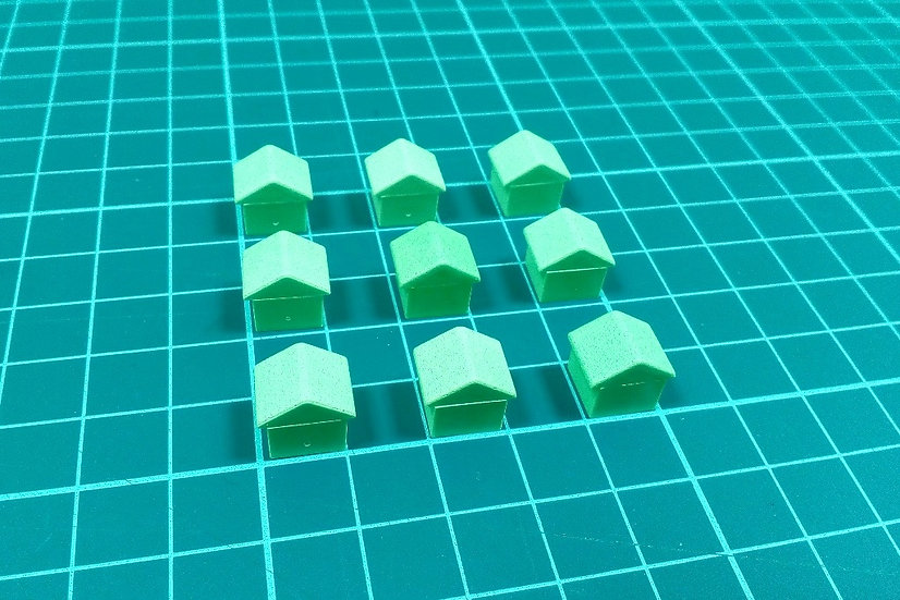 Plastic house - small green - PACK: 10