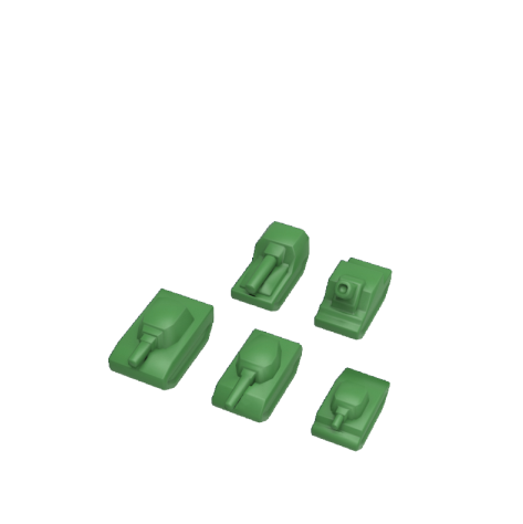 Tank Chess: colour pieces (standard)