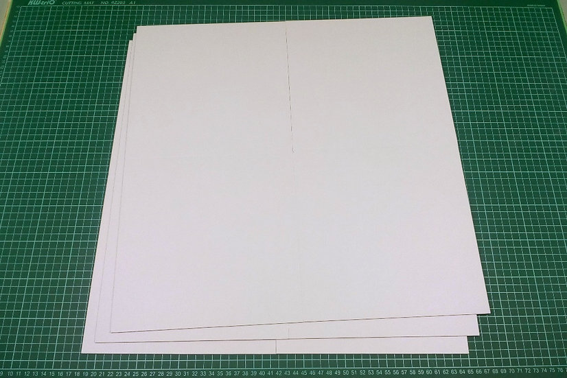 Boards (quad-fold) 47x47cm - PACK: 3