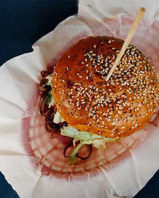 Vue de dessus de Hamburger