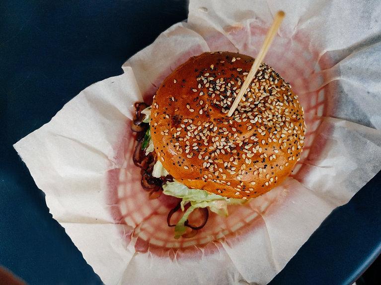Top View of Hamburger