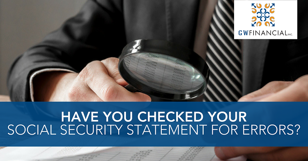 Check your social security statement for errors