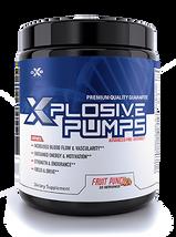 XZEN Labs XXplosive Pumps Advanced Pre Workout Supplements Facts Bottle