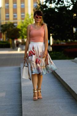 Flamingos skirt