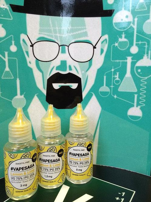 Жидкость VapeSaga - Lemon with Lime