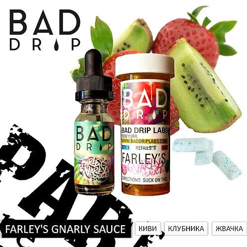 Bad Drip - FARLEY'S GNARLY SAUCE: Киви, Клубника, Жвачка. 60мл США.