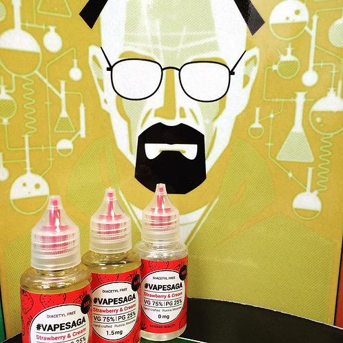 Жидкость VapeSaga - Strawberry Cream