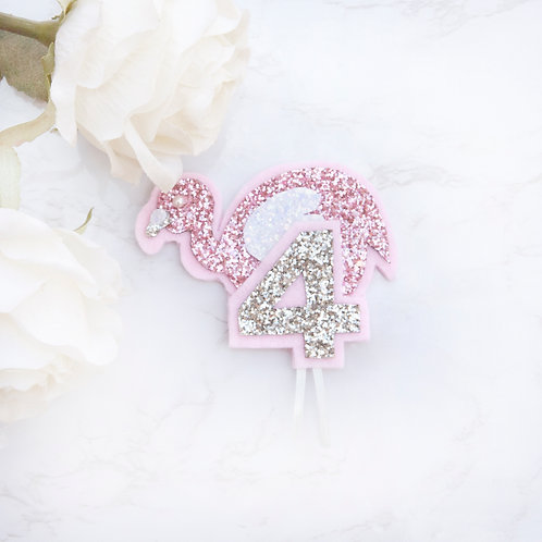 Flamingo Birthday Badge