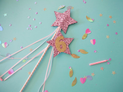 Sparkly Badge and Matching Fairy Wand