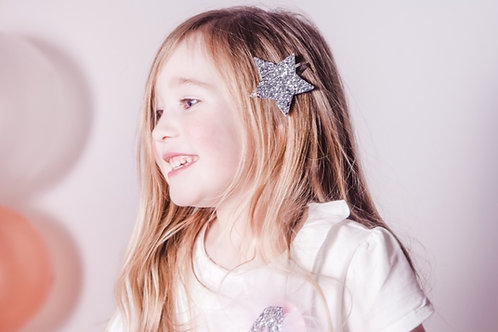 Large Glitter Star Hairclips