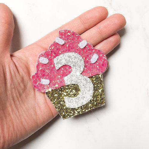 Cupcake Birthday Badge