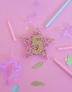 The Sparkly Birthday Badge