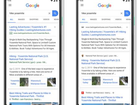 Pela transparência, Google muda a forma como links patrocinados são identificados