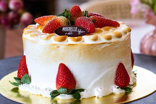 Torta de Morango Branco