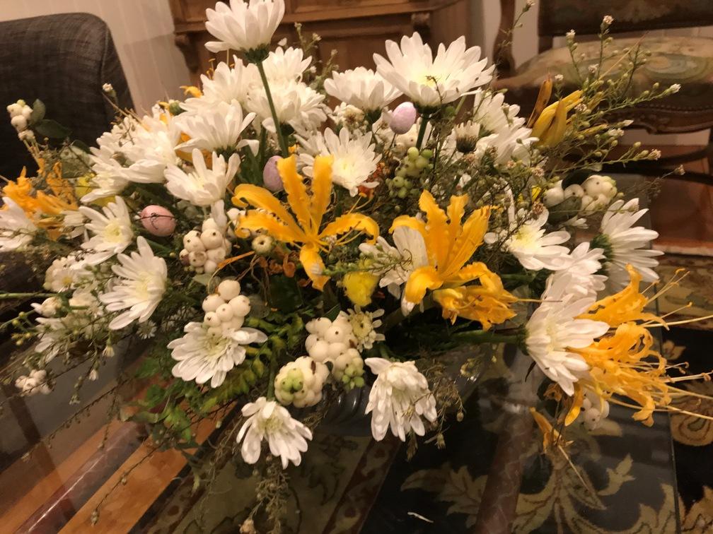Flowers in Lounge