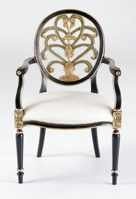 Chair Black Gold and Green