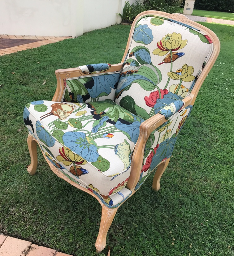 Chair reupholstered