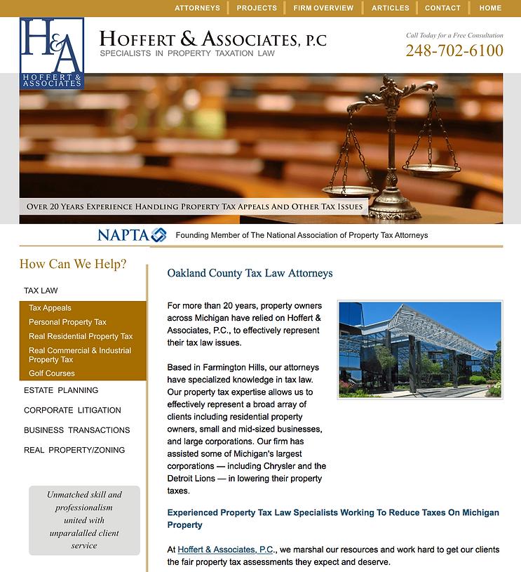Hoffert & Associates, P.C. | Detroit's best tax lawyers specializing in property taxation law