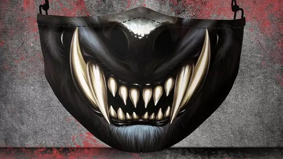 Werewolf Teeth COVID-19 Filter Mask
