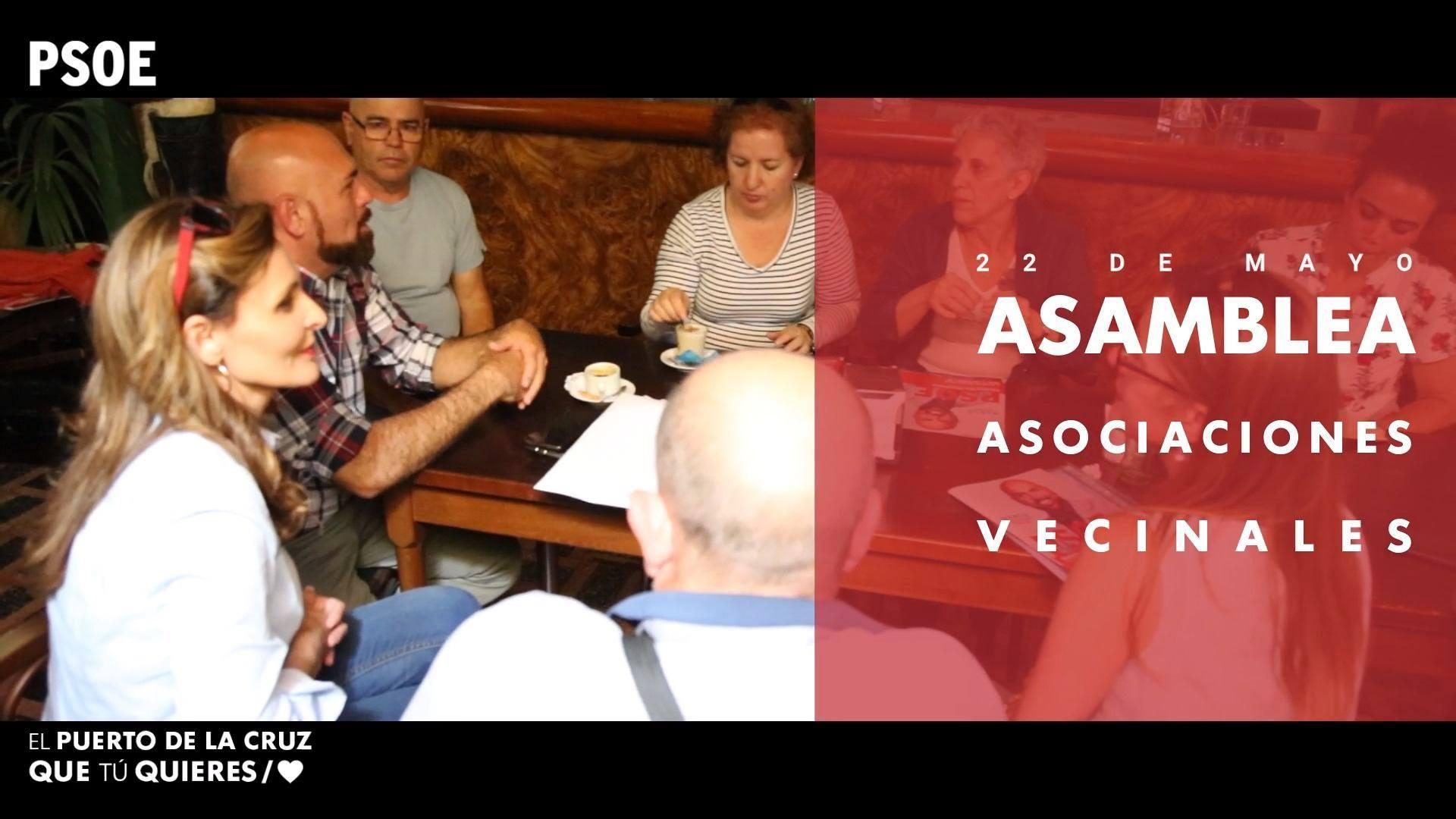 Elecciones municipales - Asamblea AAVV -  22 de mayo