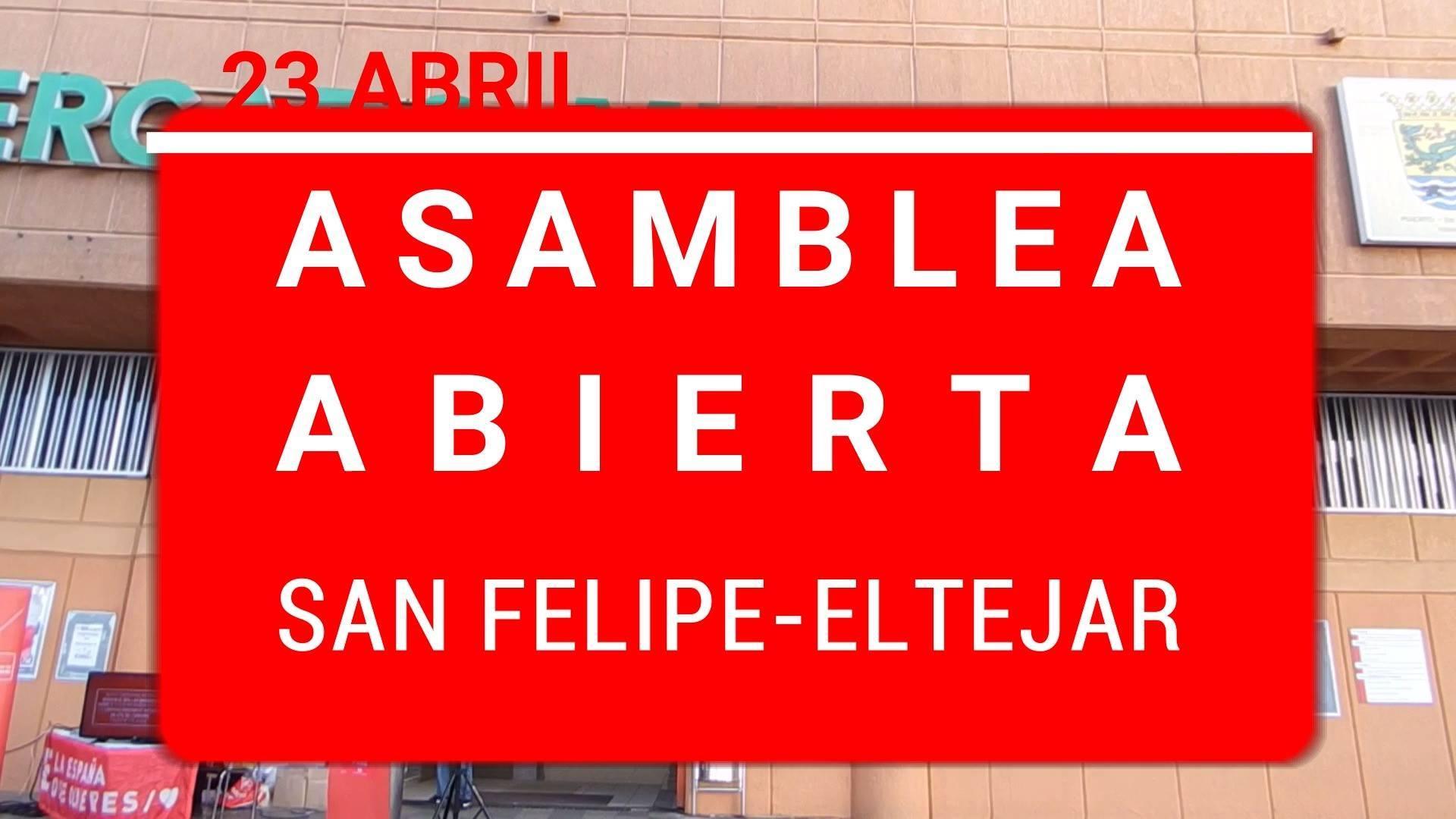 #diariodecampaña ASAMBLEA ABIERTA EN SAN FELIPE EL TEJAR