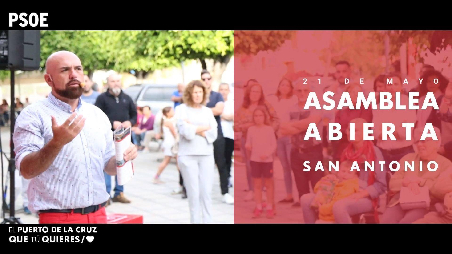 Elecciones Municipales - Asamblea Abierta - San Antonio - 21 de mayo