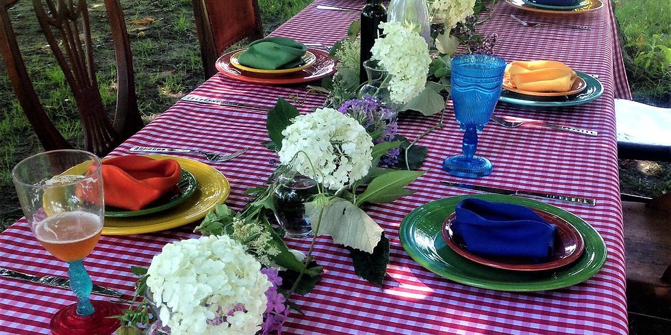 Table at the Farm Harvest Dinner