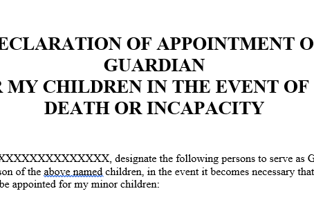 How to Prepare to Assign Temporary Guardianship for a Child