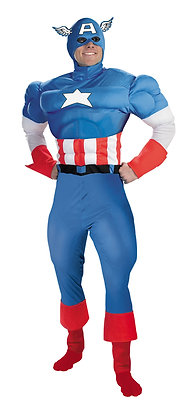 CAPTAIN AMERICA DELUXE MUSCLE ADULT