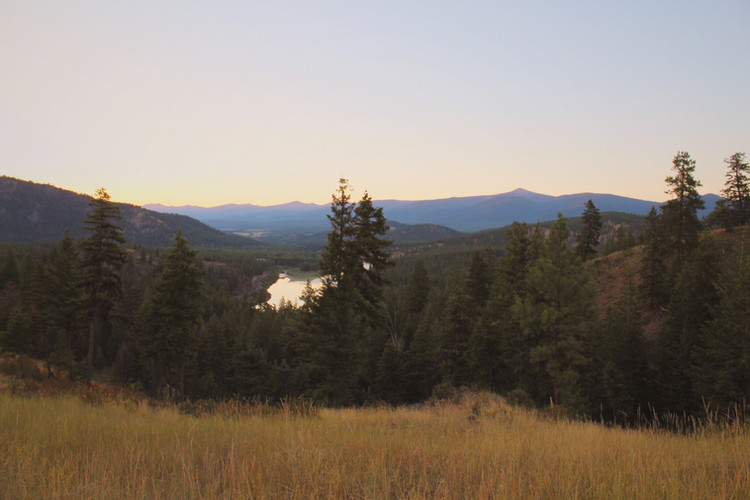 View of the Clark Fork River from the Ranch