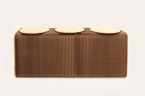 3 Seater Paper Bench