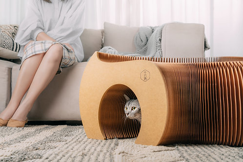 Cat Tunnel Paper Bench