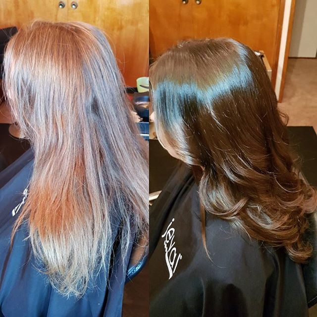From old grown out blonde to glossy winter shine