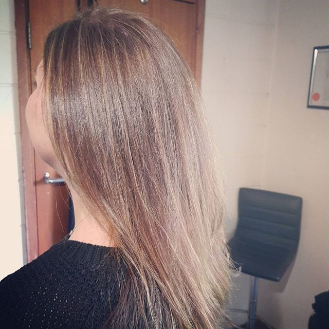 From dark and brassy to soft and lighter for summer  Getting this bride to be lighter before her wed