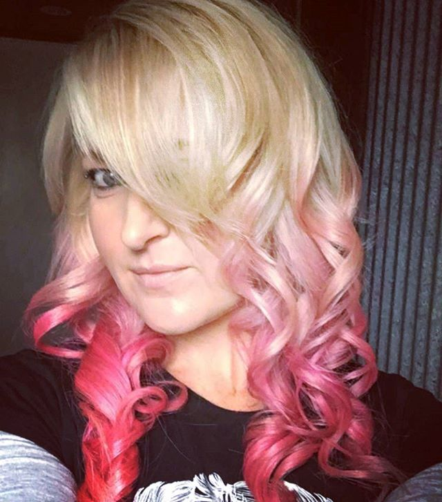 clent selfies! Pink Hair dont care!! # hairdresser #Pravana