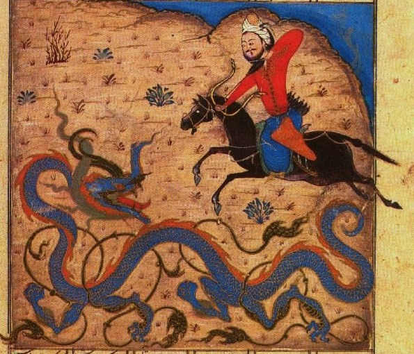 Bahram Gur Kills the dragon
