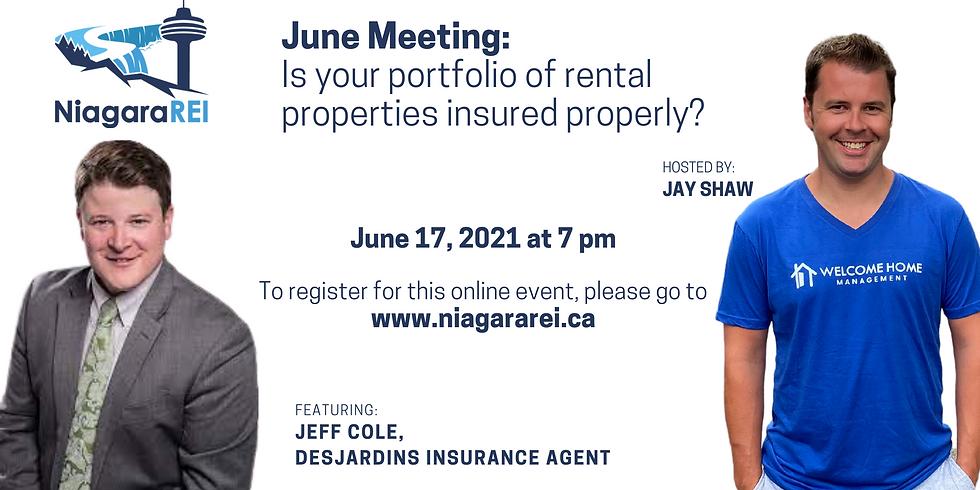 June Meeting: Is your portfolio of rental properties insured properly?