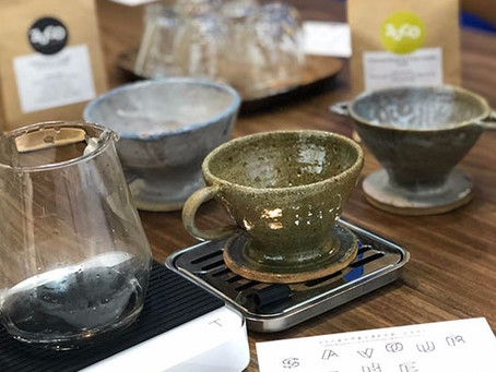 When Hand-drip Coffee meets Handmade Potteries ...